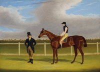The Hon. E. Petre's 'Rowton' with W. Scott up and Trainer at Doncaster
